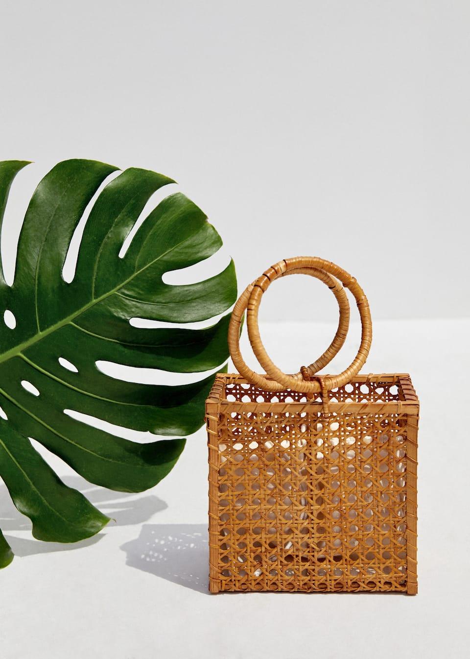 Borsa cesta bambù