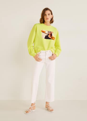 5d5d048997 Sweatshirt com estampado flúor - Plano geral