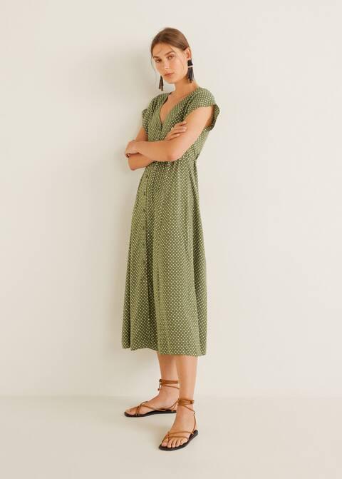 1faa8a98ee24 Φόρεμα midi εμπριμέ - Γενικό πλάνο