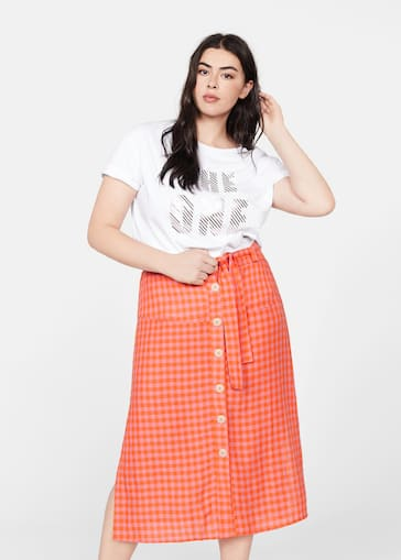9285e3311 Skirts Plus sizes 2019   Violeta by Mango Saudi Arabia