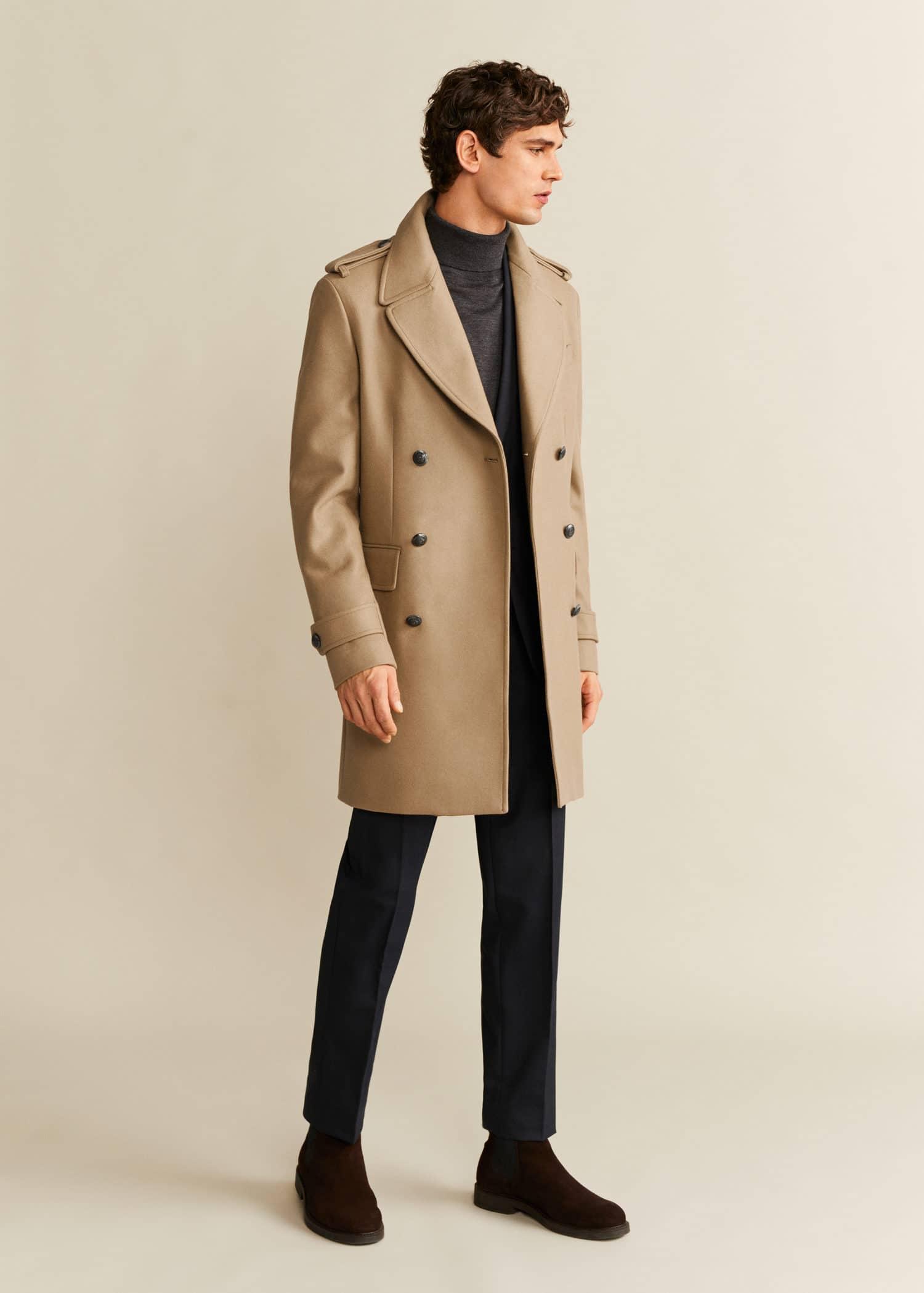 Cappotto tailored lana doppia abbottonatura Cappotti da