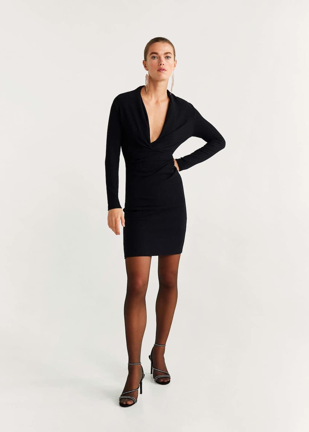 Langes Kleid im Wickelstil - Allgemeine Ansicht