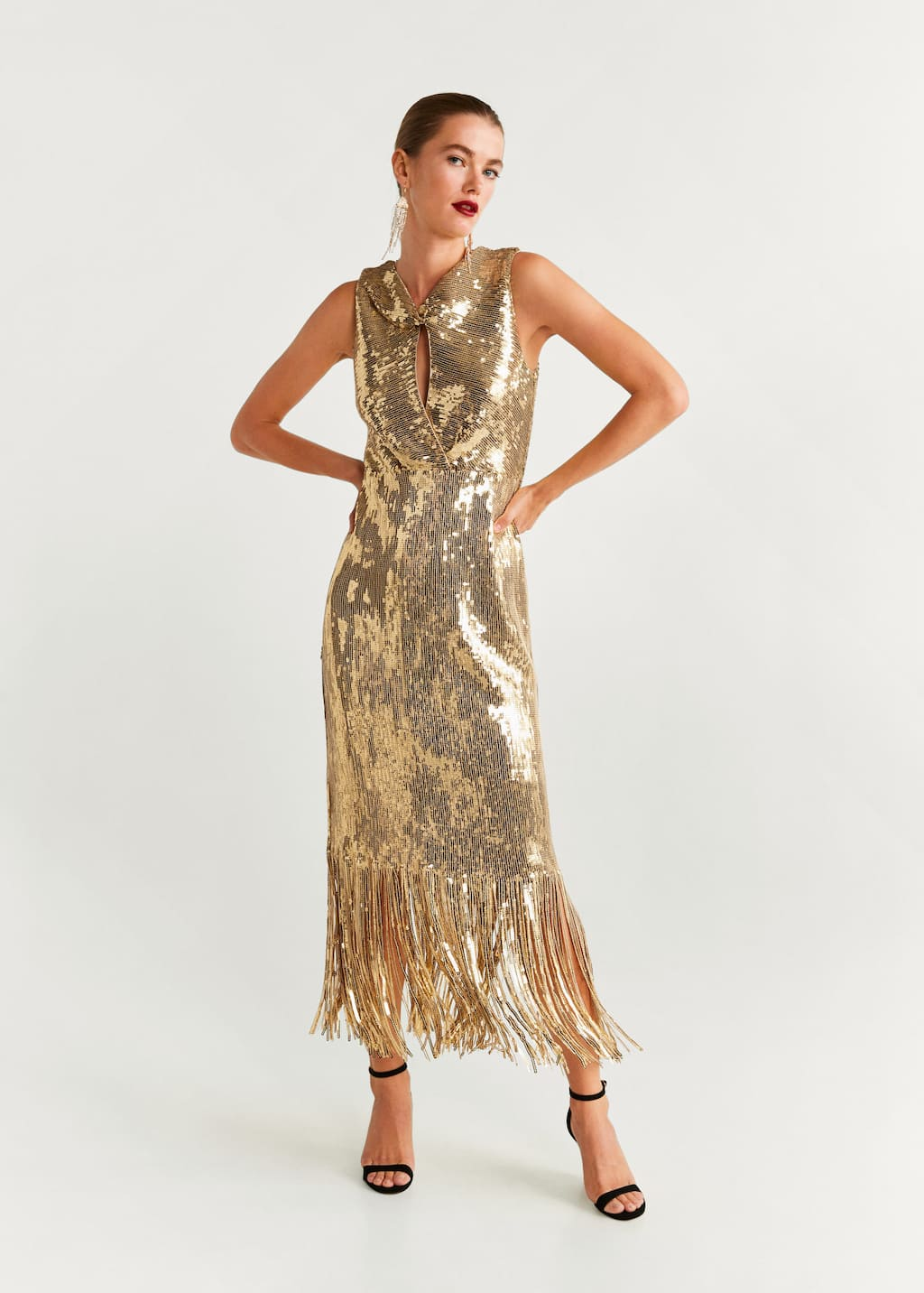 Sequins fringed dress - General plane