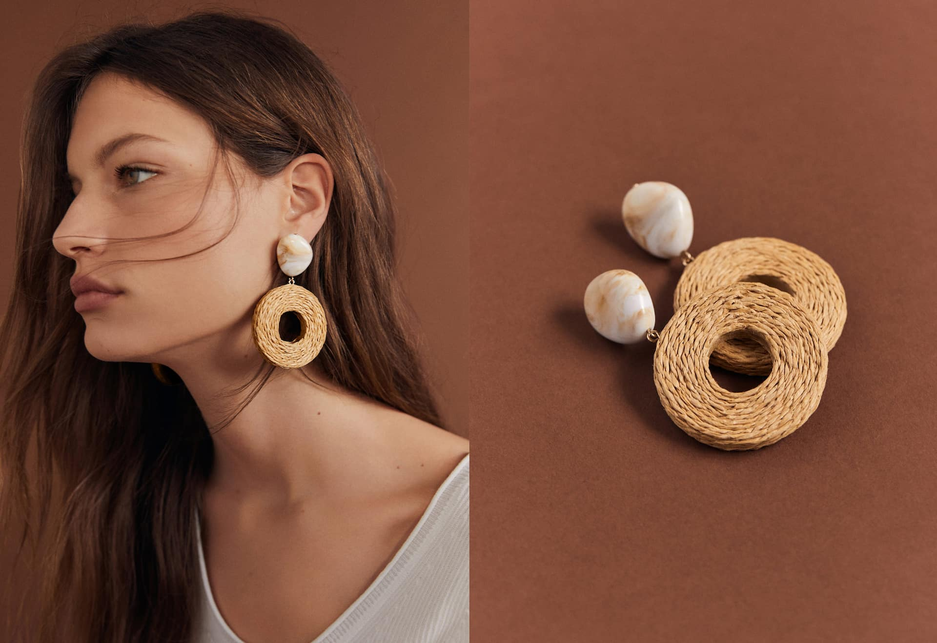 Earrings wooden rings - General plan