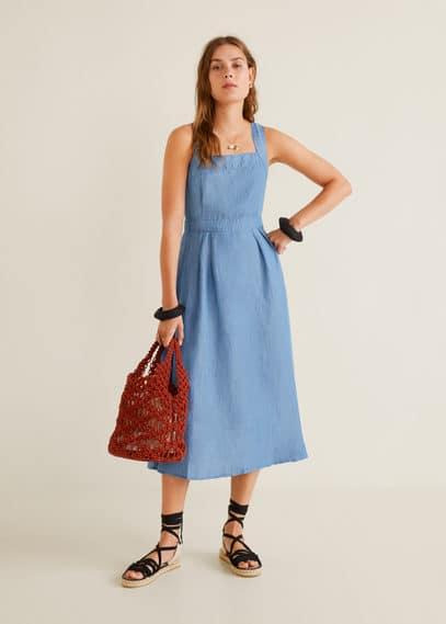 Платье из мягкого денима - Blush от Mango