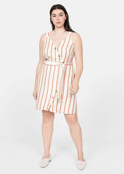 Льняное платье с запахом - Lini от Mango