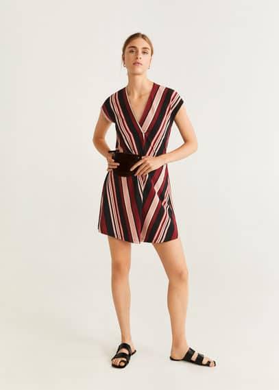mango - Kleid mit v-ausschnitt