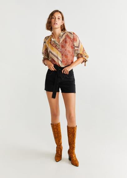 mango - Bluse mit paisley-muster