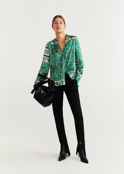 mango - Bedruckte bluse