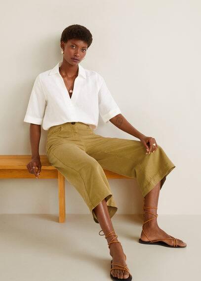 Düz kesim yumuşak pantolon