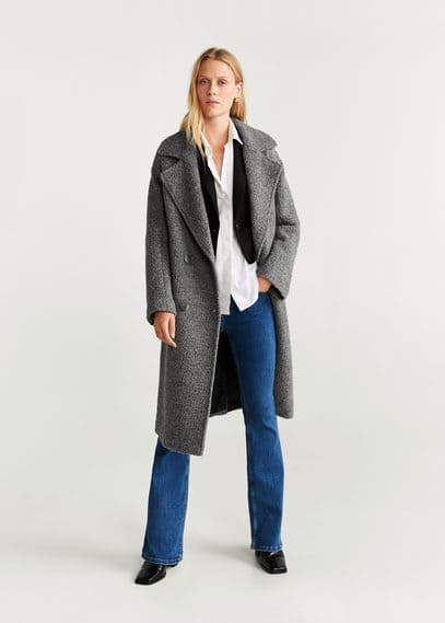 Пальто из шерсти с волнистым мехом - Twin