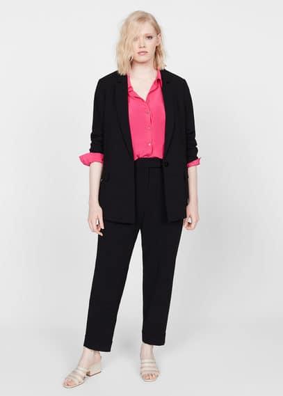 Прямые костюмные брюки - Leonor5 от Mango