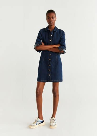 mango - Jeans-hemdblusenkleid