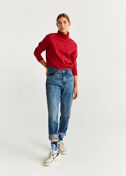 Вязаный свитер с высоким воротником - Cold