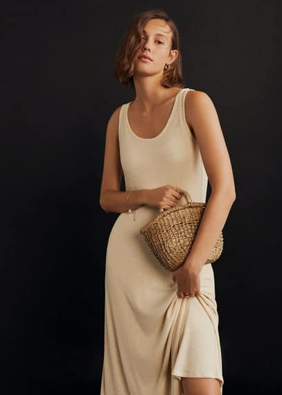 El yapımı mini sepet çanta