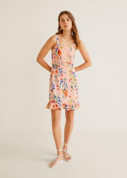 Fırfırlı kısa elbise