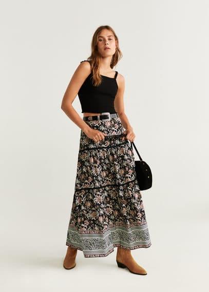 Длинная юбка с принтом - Cofy от Mango
