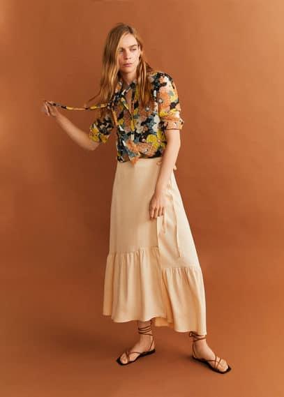Блузка с вышитыми цветами - Flower-a от Mango