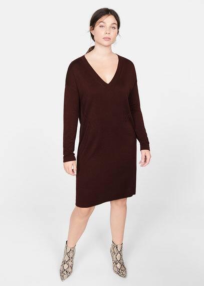 Tricot jurk met ajour detail