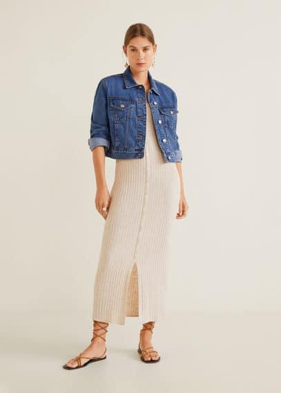 mango - Jeansjacke mit taschen