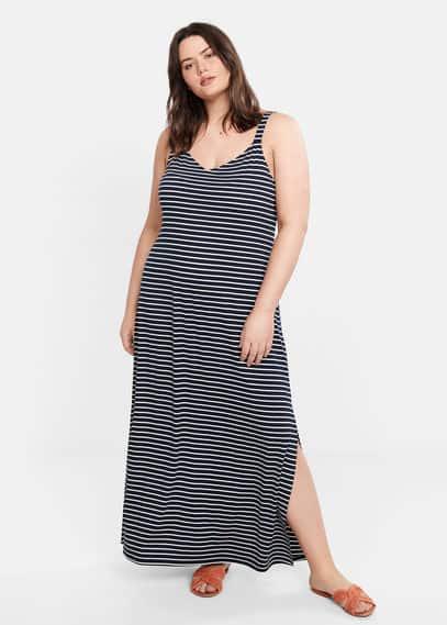 Длинное платье в полоску - Guay от Mango