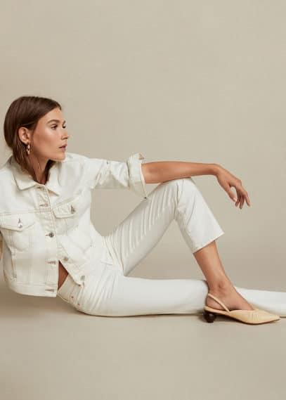 Кожаные туфли без задника - Renee от Mango