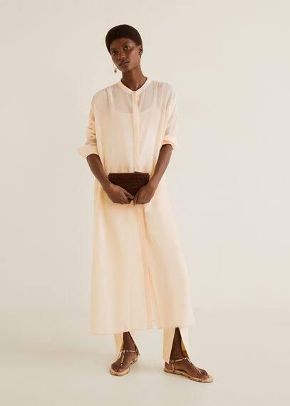 Длинная блузка из хлопка - Bereber-i от Mango
