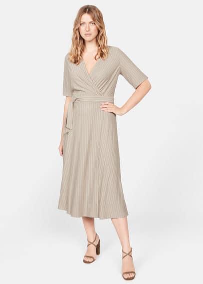 Платье в полоску с запахом - Hanna от Mango
