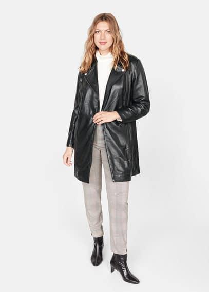Кожаное пальто на молнии - Tesi