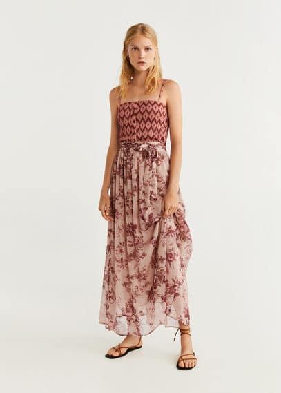 Шифоновая юбка с цветами - Star