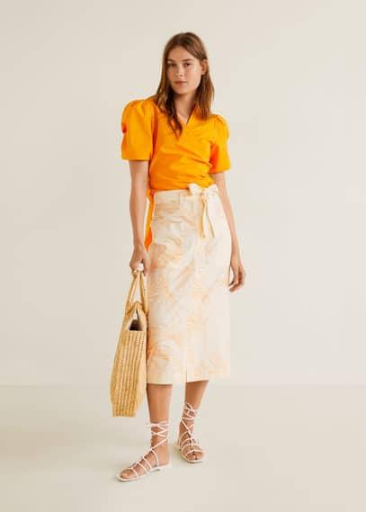 Миди-юбка с принтом - Perfil-i от Mango