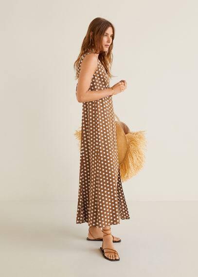 mango - Langes, bedrucktes kleid