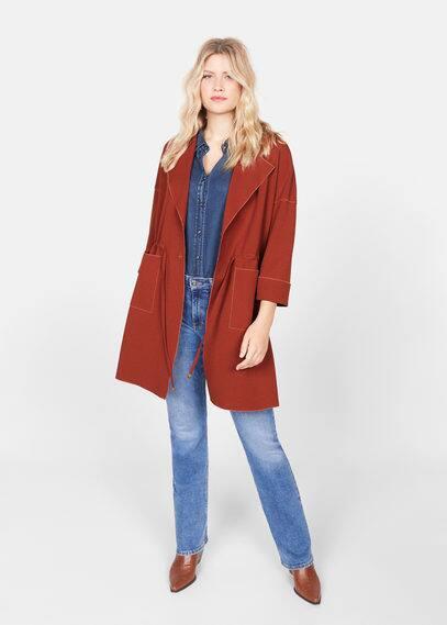 Деструктурированное пальто с поясом - Ramo от Mango