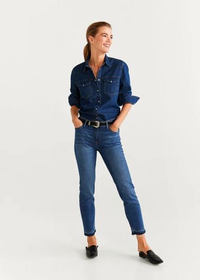 mango - Slim-jeans in cropped-länge