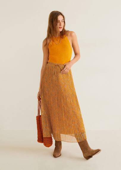 Плиссированная юбка с притом  - Pradito