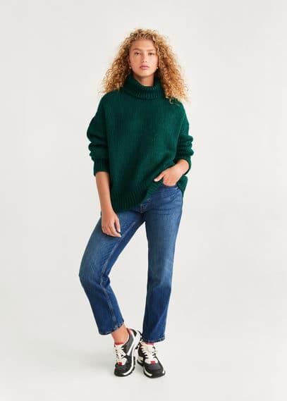 Вязаный свитер с высоким воротником - Egea