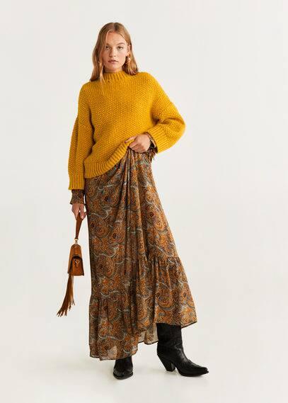 mango - Pullover mit perkins-kragen