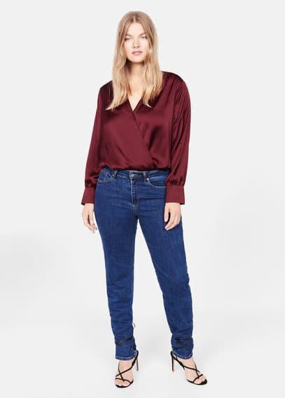 Атласная блузка-боди - Newbody