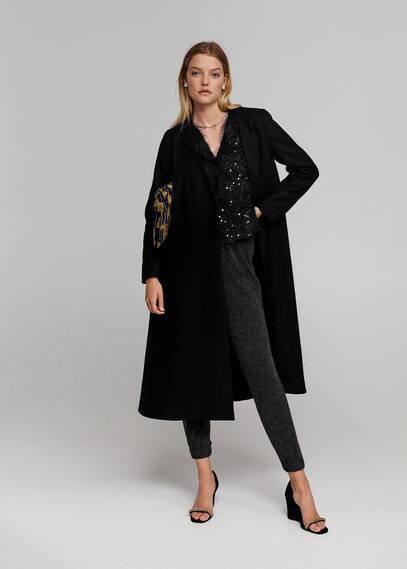 Пальто оверсайз из переработанной шерсти - Madison-x