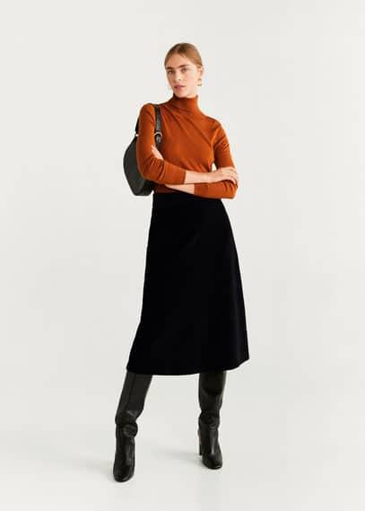 Миди-юбка из вельвета - Farrah