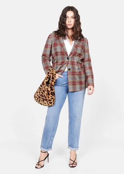Сумка с леопардовым мехом - Fur-i
