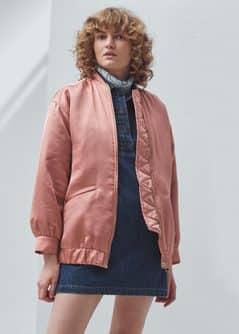 Satin bomber jacket - Women | MANGO USA