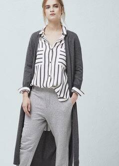 Long cotton cardigan - Women | MANGO USA