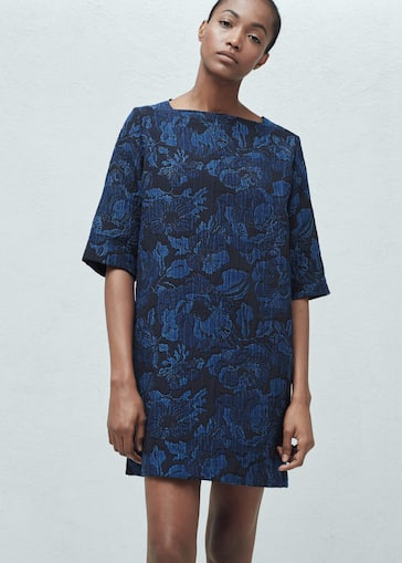 Textured jacquard dress - Woman  5c254d82c