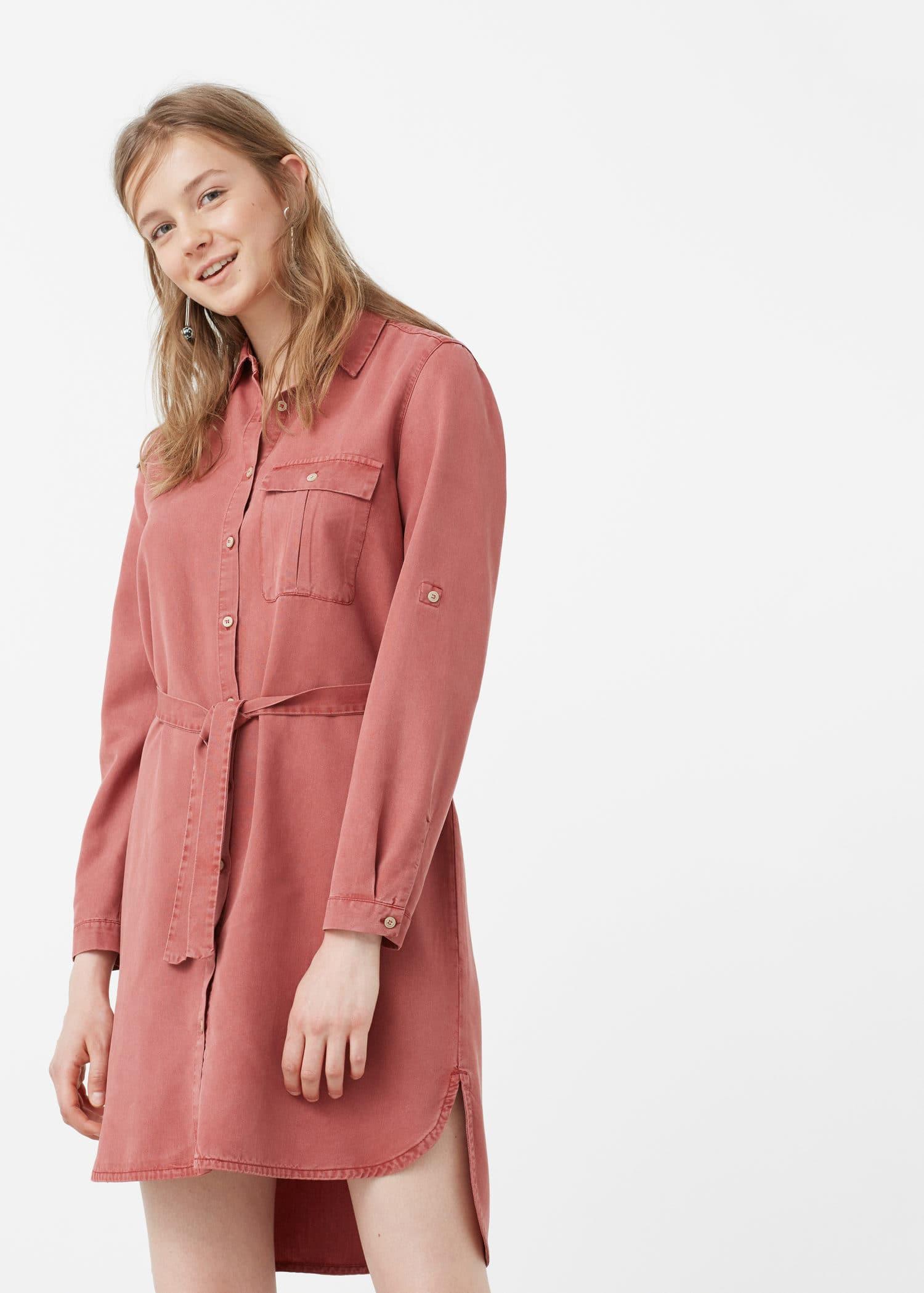 Robe jean tencel femme