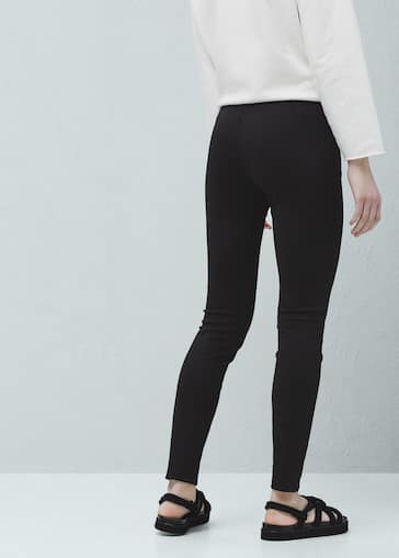 Decorative trim leggings - Women   MANGO United Kingdom 24421b444bfb