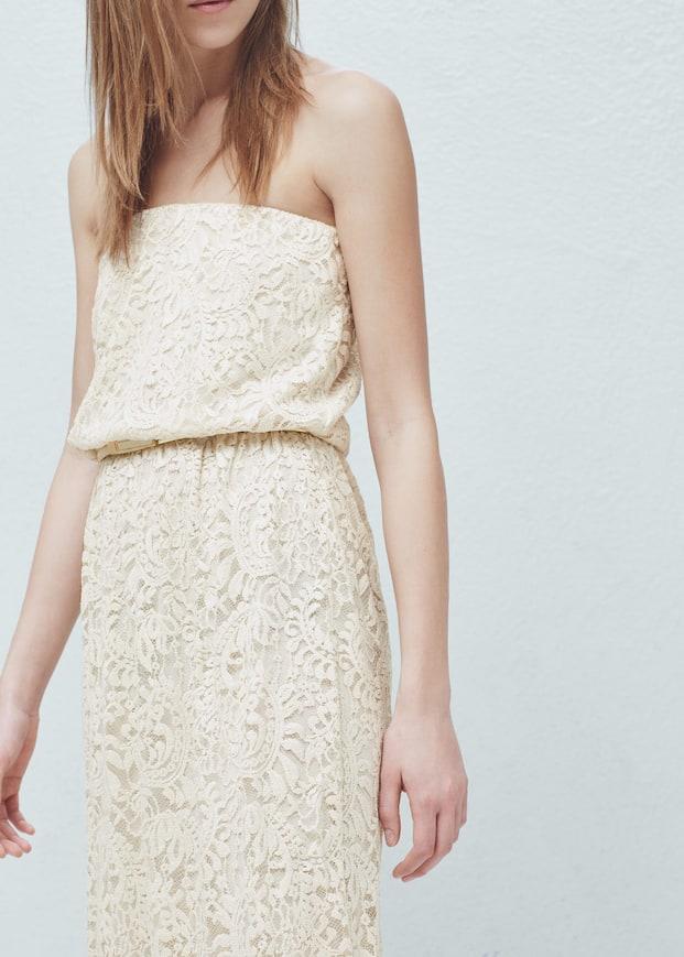 9651105dfd26 Robe longue dentelle - Femme