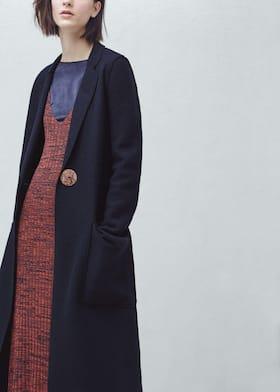 63ce1e36355 Premium - abrigo largo lana - Mujer | Mango España