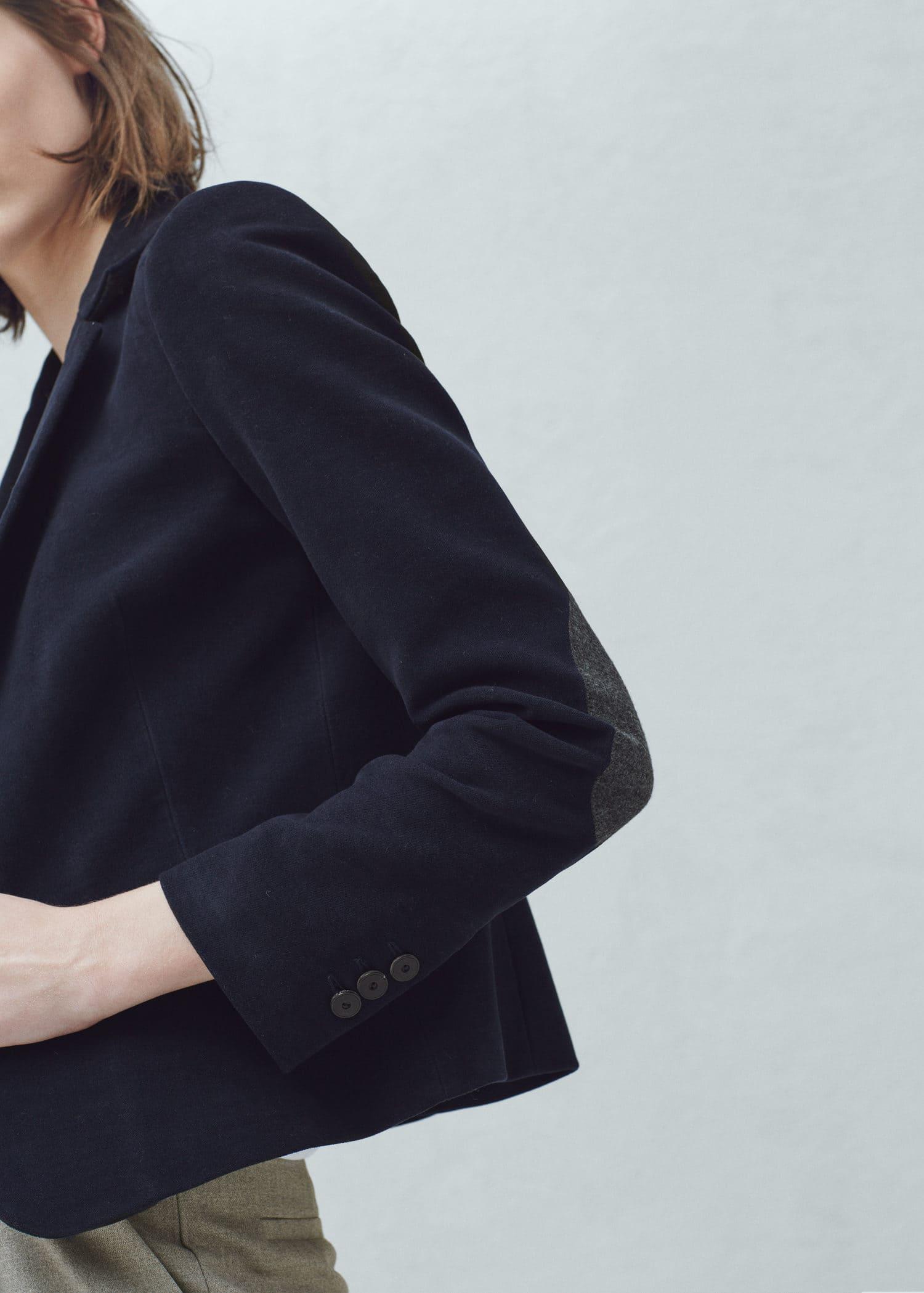 Veste coton coudieres femme