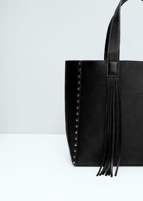 db596595c43 Fringed shopper bag - Woman | Mango Cyprus (Euros)